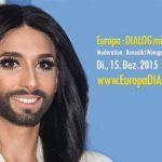 Conchita Wurst at European Union House for #EuropaDialog